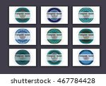 vintage business visiting cards ... | Shutterstock .eps vector #467784428