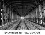 rails on gdanski bridge  ... | Shutterstock . vector #467789705