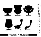 black modern armchair set  in...