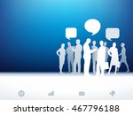 paper business silhouettes.... | Shutterstock .eps vector #467796188