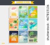 set template beach party flyer. ... | Shutterstock .eps vector #467815136