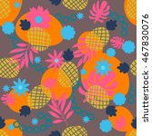 cute tropical seamless pattern... | Shutterstock .eps vector #467830076