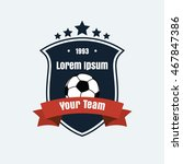 vector logo icon of football... | Shutterstock .eps vector #467847386