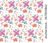 ornate seamless floral pattern. ... | Shutterstock .eps vector #467854862