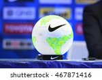 Small photo of BANGKOK THAILAND-JULY15:The ball during AFC FUTSAL CLUB CHAMPIONSHIP 2016Match Chonburi Bluewave and Nagoya Oceans at Bangkok Arena Stadium on July15,2016