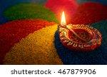 diwali oil lamp   diya lamp lit ... | Shutterstock . vector #467879906
