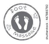 Foot Massage Symbol. Foot...