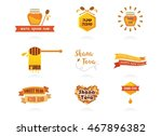 abstract icon for rosh hashanah.... | Shutterstock .eps vector #467896382