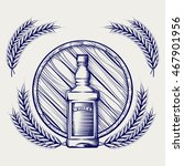 hand drawn sketch of whisky... | Shutterstock .eps vector #467901956