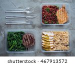 food in plastic boxes  daily... | Shutterstock . vector #467913572