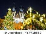 Christmas Market In Prague At...