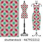 vector fashion illustration ... | Shutterstock .eps vector #467922212