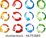 set of arrows. vector... | Shutterstock .eps vector #46792885