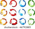 set of arrows. vector... | Shutterstock .eps vector #46792885