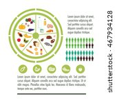 fruits vegetables meat fish egg ...   Shutterstock .eps vector #467934128