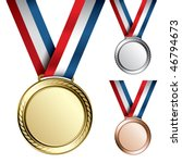 three detailed vector medals... | Shutterstock .eps vector #46794673