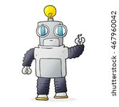freehand drawn cartoon robot | Shutterstock . vector #467960042
