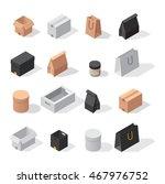 vector gift box cardboard... | Shutterstock .eps vector #467976752