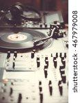 vinyl record player  analog... | Shutterstock . vector #467979008