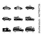 emergency transportation icon... | Shutterstock .eps vector #467984756