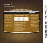 web site design template ... | Shutterstock .eps vector #46799077