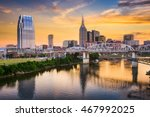 skyline of downtown nashville ... | Shutterstock . vector #467992025