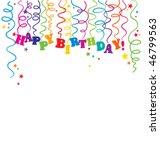 serpentine birthday   Shutterstock .eps vector #46799563