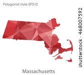 massachusetts state map in... | Shutterstock .eps vector #468007592