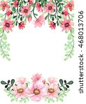 frame with watercolor red and... | Shutterstock . vector #468013706