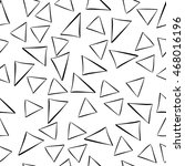 black and white seamless hand... | Shutterstock .eps vector #468016196