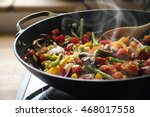 Steaming Mixed Vegetables In...