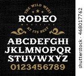 handmade vintage font for... | Shutterstock .eps vector #468017762