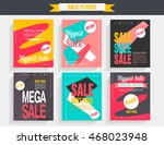 set sale poster with percent... | Shutterstock .eps vector #468023948