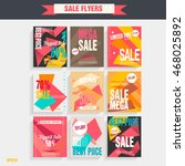 set sale poster with percent... | Shutterstock .eps vector #468025892