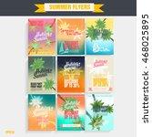 set template beach party flyer. ... | Shutterstock .eps vector #468025895