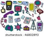 communication icons   vector | Shutterstock .eps vector #46802893