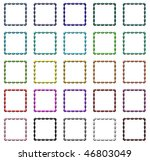 set of colorful regular design... | Shutterstock . vector #46803049