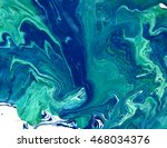 marbled blue abstract... | Shutterstock . vector #468034376