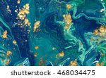 marbled blue abstract... | Shutterstock . vector #468034475
