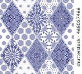 vector seamless patchwork...   Shutterstock .eps vector #468037466