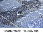 Water Drop On Solar Cell