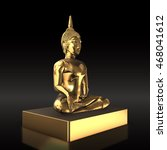 golden buddha statue  used as... | Shutterstock . vector #468041612