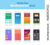 mobile wireframe app ui kit 43. ...