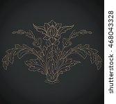 vintage baroque scroll ornament ... | Shutterstock .eps vector #468043328
