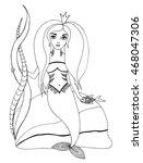 portrait of beautiful girl of... | Shutterstock .eps vector #468047306
