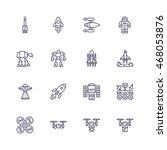 transport icons   Shutterstock .eps vector #468053876
