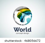 earth logo template  abstract... | Shutterstock .eps vector #468056672