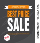 sale poster with percent... | Shutterstock .eps vector #468065426