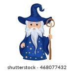 Cartoon Wizard With Staff....