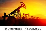 3d illustration of oil pump... | Shutterstock . vector #468082592